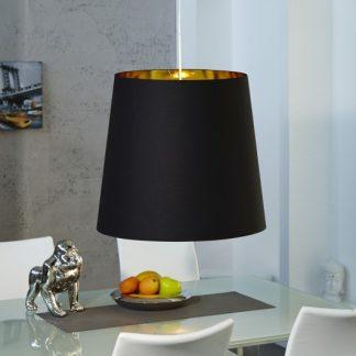 Závesná lampa Dark Sapphire M čiernozlatá