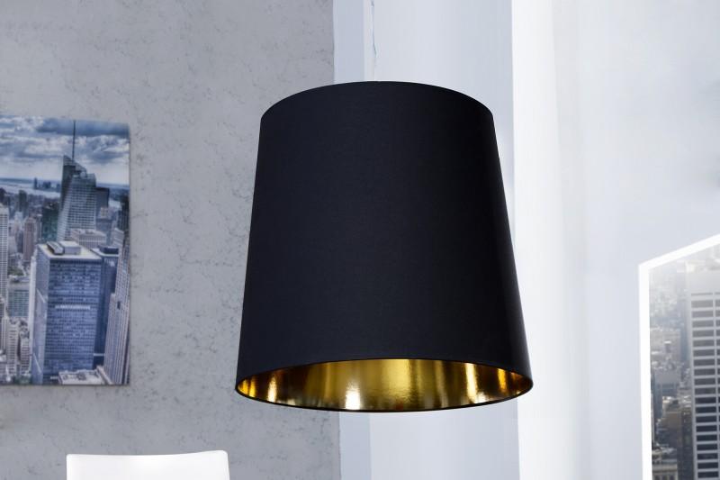 Závesná lampa Dark Sapphire XXL čiernozlatá