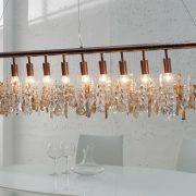Závesná lampa Diamonds XL meď