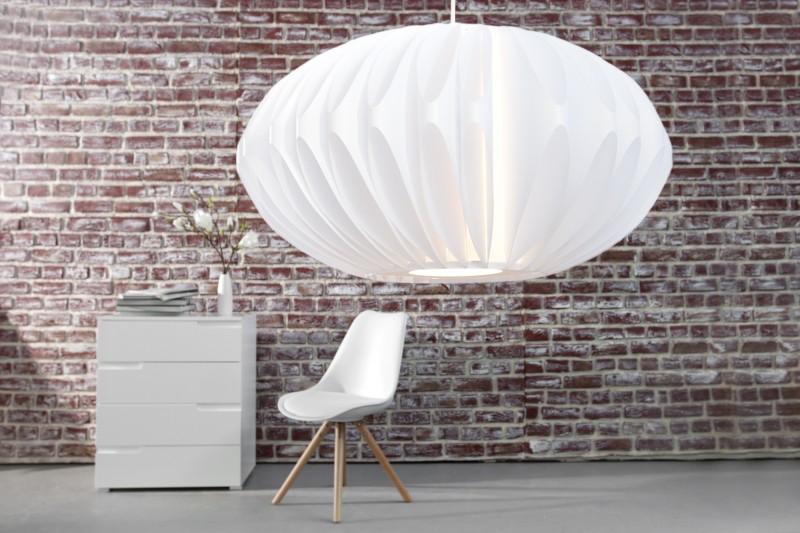 Závesná lampa Eden biela 50cm