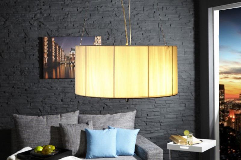 Závesná lampa Extenso biela 50cm