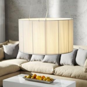 Závesná lampa Extenso biela 60cm