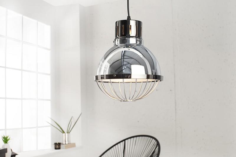 Závesná lampa Factory 25cm strieborná