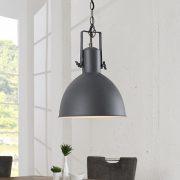 Závesná lampa Factory II 40cm sivá biela