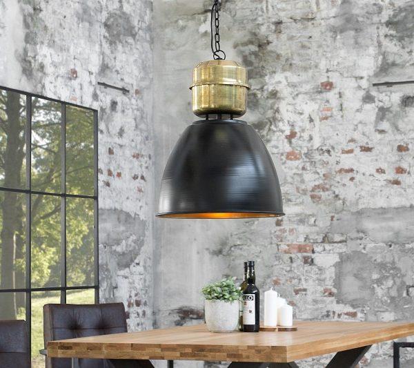 Závesná lampa Factory L 40cm čierna meď