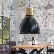 Závesná lampa Factory XL 54cm čierna meď