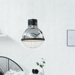 Závesná lampa Factory strieborná