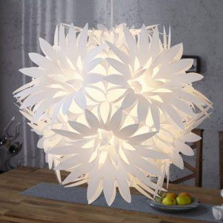 Závesná lampa Fiore biela