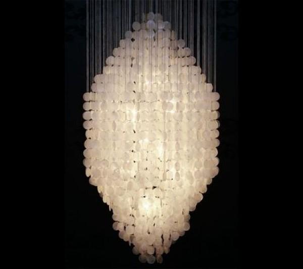 Závesná lampa Gigantic Shell