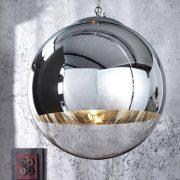 Závesná lampa Globe 30cm chróm