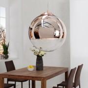 Závesná lampa Globe 30cm meď