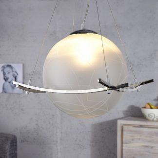 Závesná lampa Globo biela