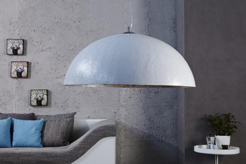 Závesná lampa Glow biela strieborná 50cm