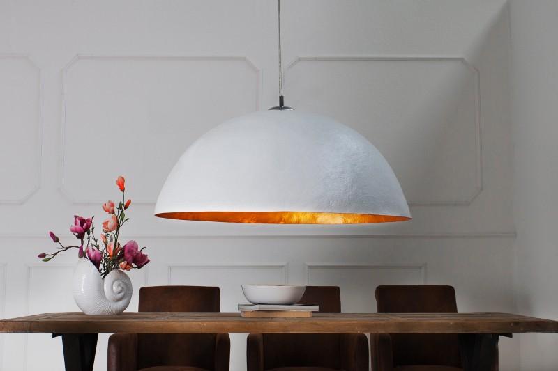 Závesná lampa Glow biela zlatá 50cm