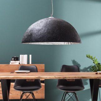 Závesná lampa Glow čierna strieborná 50cm