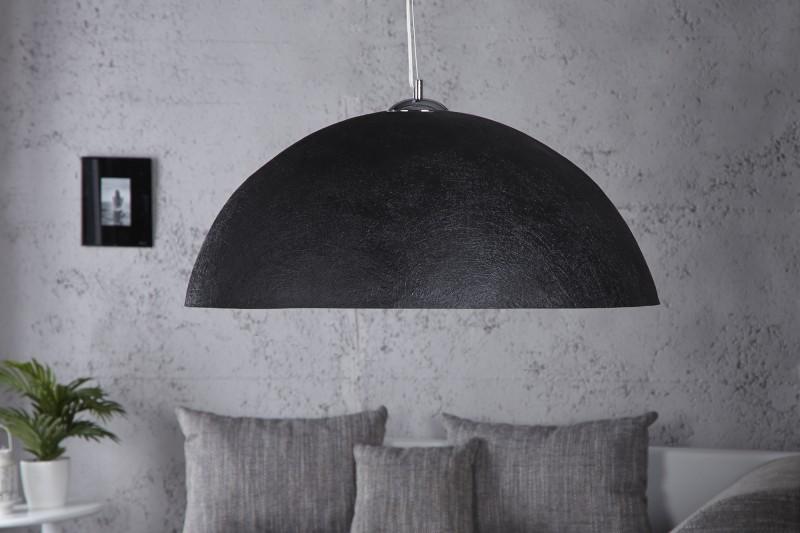 Závesná lampa Glow čiernozlatá 70cm