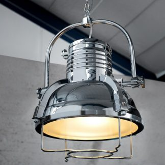 Závesná lampa Industrial II chróm 35cm