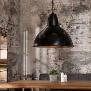 Závesná lampa Industrial L 35cm čierna meď