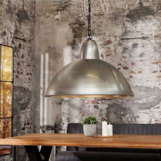 Závesná lampa Industrial XL 46cm strieborná