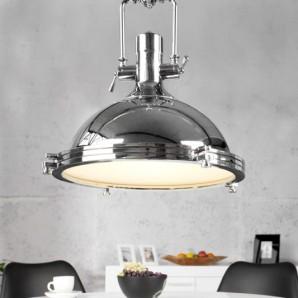 Závesná lampa Industrial chróm 45cm