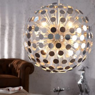 Závesná lampa Infinity L chróm