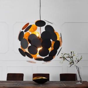 Závesná lampa Infinity čiernozlatá