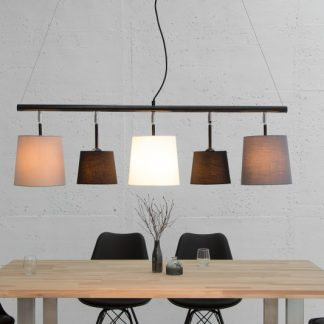 Závesná lampa Levels 100cm hnedá béžová