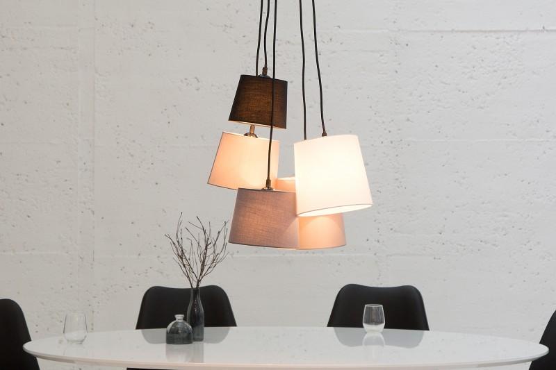Závesná lampa Levels 5 tienidloe hnedá béžová