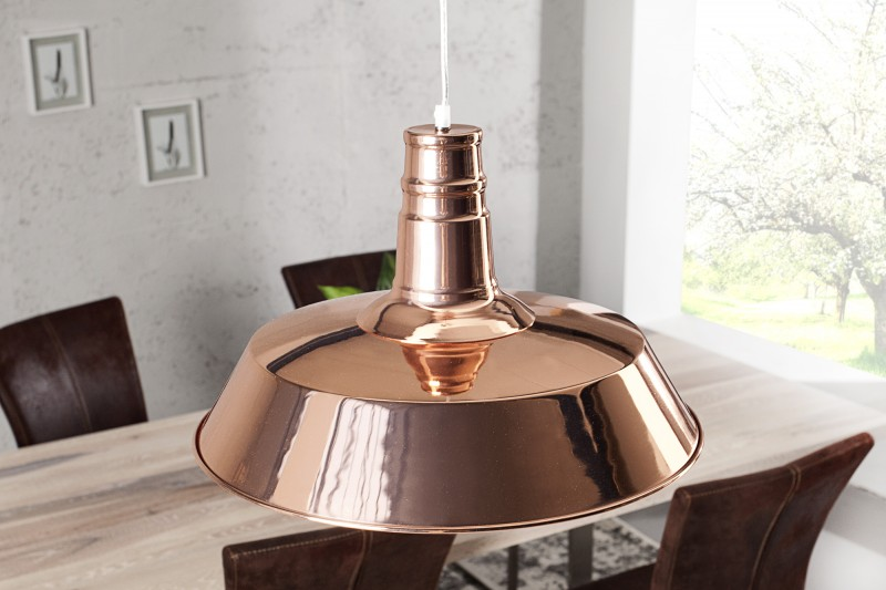 Závesná lampa Luca meď
