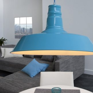 Závesná lampa Luca svetlomodrá