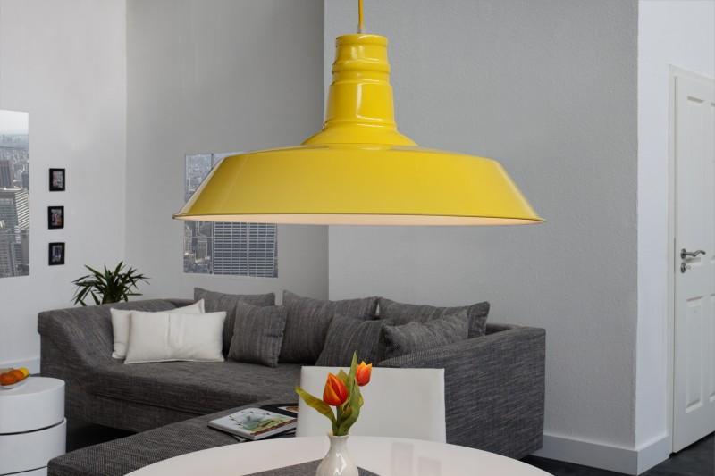 Závesná lampa Luca žltá