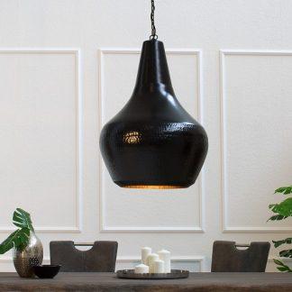 Závesná lampa Modern Orient L čierna meď