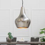 Závesná lampa Modern Orient L strieborná meď