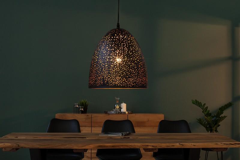 Závesná lampa Moonlight II čierna meď