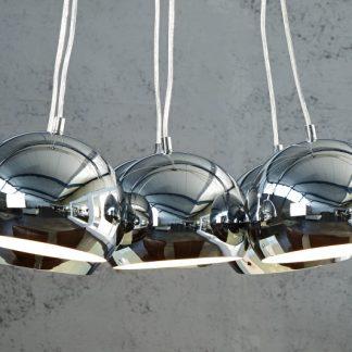 Závesná lampa Perlota M chróm