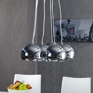 Závesná lampa Perlota XL chróm