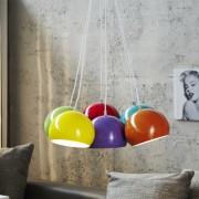 Závesná lampa Perlota XL farebné