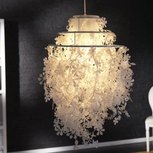 Závesná lampa Primavera biela