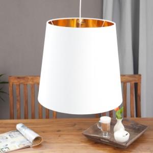 Závesná lampa Sapphire XXL biela zlatá
