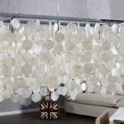 Závesná lampa Shell Reflections 80cm