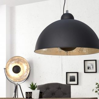 Závesná lampa Studio čierna strieborná