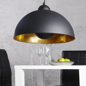 Závesná lampa Studio čiernozlatá