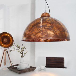 Závesná lampa Studio meď Used Look