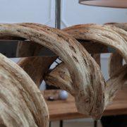 Závesná lampa Vigine 160cm recyklované drevo
