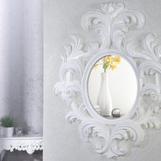 Zrkadlo Barocco biela 130x150cm