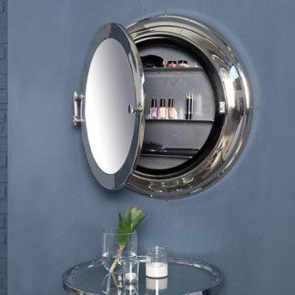Zrkadlo Bullauge 55cm strieborná