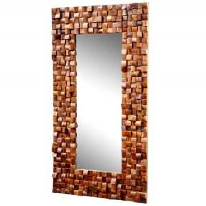 Zrkadlo Mosaik 100x180cm teakové drevo