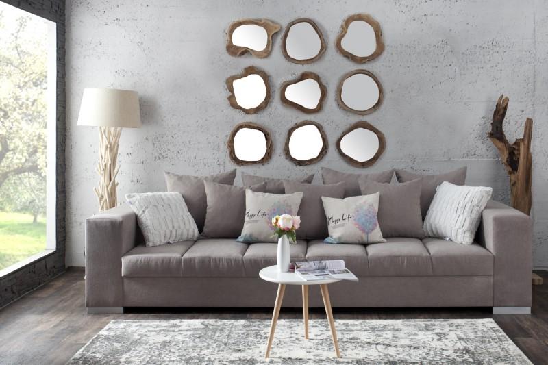 Zrkadlo Reflect 20cm rund teakové drevo