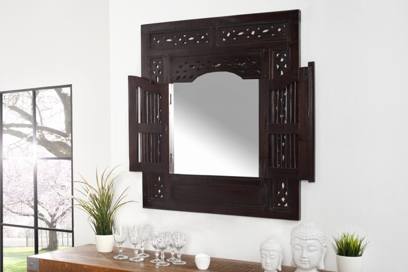 Zrkadlo Secret Window mahagón