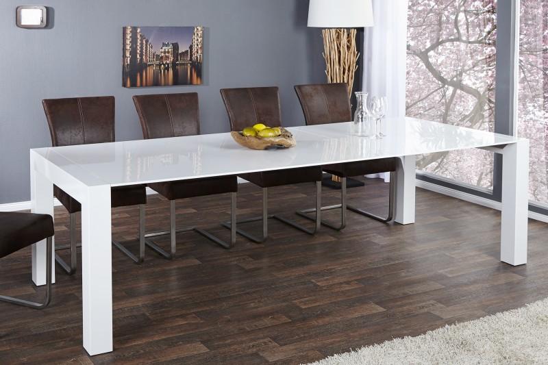 stôl X7 180-220-260cm biela